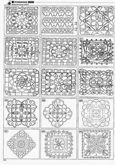 Granny Square Patterns Certainly Handy Granny Pattern, Crochet Motif Patterns, Crochet Blocks, Square Patterns, Crochet Diagram, Crochet Chart, Crochet Squares, Free Crochet, Crotchet Stitches