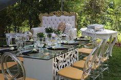 Bridal Shower Decor Bridal Shower Decorations, Table Decorations, Table Settings, October, Furniture, Ideas, Home Decor, Decoration Home, Room Decor