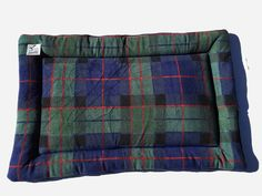 Blue Plaid Dog Bed, Green Crate Pad, Puppy Bedding, Couch Cover, Fleece Pet Pad, Large Dog Bed, Fleece Crate Mat, Pet Travel Items, Dog Gift #LargeCratePad #ComfyPetPads #PlaidDogBed #LargeDogBed #FleecePetPad #FleeceCrateMat #DogCratePad #FleecePetBed #DogItems #LargeDogBeds