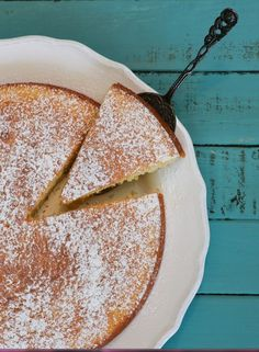 """Lemon Polenta Cake with Winter Fruit Compote This """"Better than Butter ..."""