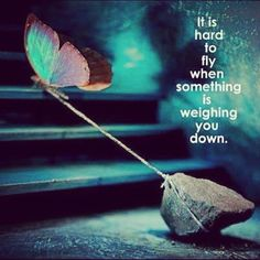 Let go of your eating disorder and set yourself free...fly beautiful one!