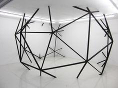 cloud five: wood, acrylic, 700 x 700 x 350 cm (variable), 2011 by Monica Ursina Jäger
