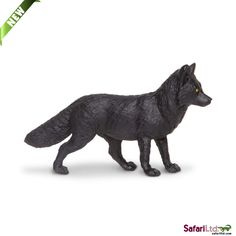 Safari Ltd Wild Safari North American Wildlife – Black Fox – Educational Hand Painted Figurine – Quality Construction from Safe and BPA Free Materials – For Ages 3 and Up Cattle Farming, Fur Trade, Custom Action Figures, Plastic Animals, Mythical Creatures, Pet Toys, Safari, Lion Sculpture, Wildlife
