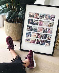 """My big Polaroid frame had a baby. Polaroid Pictures Display, Polaroid Picture Frame, Polaroid Display, Big Picture Frame Ideas, Polaroid Foto, Polaroid Frame, Polaroids, Polaroid Collage, Instax Frame"