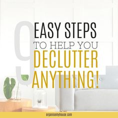 Amazing step by step guide to teach you exactly how to declutter your home - decluttering tips and advice for your home. Tackle the clutter end enjoy your home.. Clutter Free Home, Household Chores, Declutter Your Home, Organization Hacks, Organizing Tips, Feeling Overwhelmed, Diy Storage, Stress Free, Step Guide