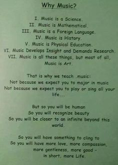 Why music?!