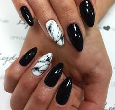 Dark Nails: TOP 25 fashion inspirations for the fall season / winter . - Minimal - Dark Nails: TOP 25 fashion inspirations for the fall season / winter … – - Marble Nail Designs, Black Nail Designs, Nail Art Designs, Nails Design, Dark Nails, Purple Nails, Long Nails, Dark Nail Art, Black Gel Nails