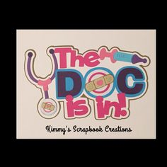 A personal favorite from my Etsy shop https://www.etsy.com/listing/279672024/the-doc-is-in-scrapbook-title-premade