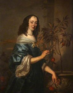 Portrait of an Unidentified Lady in a Blue Dress, Fingering an Orange Sapling by Abraham Lambertsz. van den Tempel (style of) Date painted: 1650/1660 Oil on canvas, 127 x 101.5 cm Collection: National Trust
