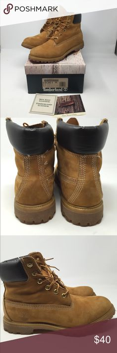 "Timberland Women's 6"" Wheat Boots 8.5 in Box Women's Classic Timberland Boots. Size 8.5. In original box. Worn a couple of times-so some scuff marks, but overall nice condition. See pics. No trades Timberland Shoes"