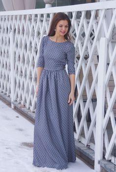 Купить Платье в пол Роскошное / длинное платье - черный, трикотажное платье, вечернее платье