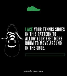 Style hack: Tight shoes be gone! Lace your sneakers in this pattern to avoid overly tight shoes.