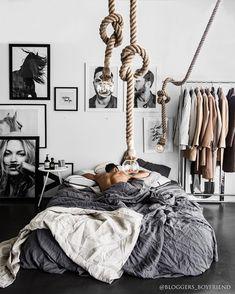 20 New trend modern Bedroom Design Ideas - kindledesignhome Apartment Interior, Home Decor Bedroom, Modern Bedroom, Interior Design Living Room, Men Apartment, Guy Bedroom, Apartment Ideas, Bachelor Apartment Decor, Bachelor Pad Bedroom