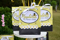 Favors at a Bumblebee Birthday Party #bumblebee #partyfavors