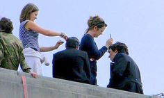 BTS Sherlock behind the scenes Reichenbach Fall Photo