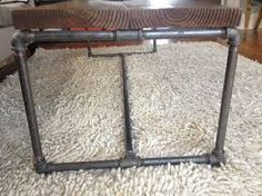 Image result for metal pipe table