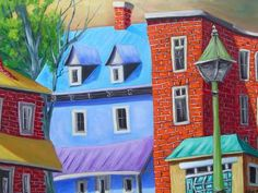 blue house lampost - Guy Morest