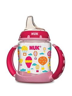 NUK Hot Air Balloons Learner Cup in Girl Patterns, 5-Ounc...
