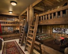 Traditional Bedroom Log Cabin Decorating Design, Pictures, Remodel, Decor and Ideas - page 13