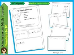 These journals are made with economy printing and the CCSS in mind.  Activities address the K.CC.3 through the K.CC.6 standards with connections to other standards such as graphing, constructing, and deconstructing numbers.  Pages are not numbered, and prompts are generic in order for you to plug in to your own curriculum sequence.