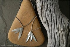 Silver 3 Leaf Necklace  Sterling Silver от ColbyJuneJewelry, $115.00
