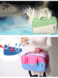 6f060767912 Portable Travel Swimsuit Gym bag Swimming Package Organizer Dry wet  Separation   eBay Cloth Bags, Gym