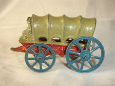 Old Vtg Antique Collectible Lead Covered Wagon Driver Sitting