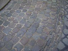 Reclaimed cobblestones | old used paving cobbles - European Porhyry Cobblestone Driveway, Brick Driveway, Garden Paving, Garden Paths, Low Maintenance Plants, Mediterranean Garden, Paving Stones, Cottage, Backyard