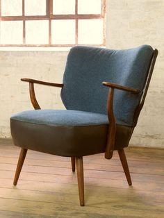 Mid Century Retro Cocktail Arm Chair Armchair Fauteuil Sessel Vintage 50s 60s