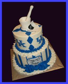 nurse and doctor cake Pharmacy Cake, Pharmacy School, Doctor Cake, Graduation Day, Cake Cookies, Cupcakes, Graduate School, Desserts, Carolina Blue