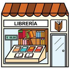 Pictogramas ARASAAC - Librería. Spanish Teaching Resources, Spanish Lessons, Teaching Math, Spanish Vocabulary, Vocabulary Activities, Paper Doll House, Paper Dolls, Community Places, Cognates