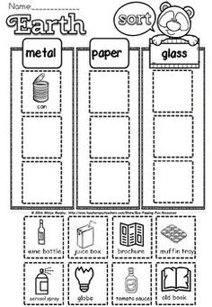 earth day activities sample Earth Day Worksheets, First Grade Worksheets, Earth Day Activities, Preschool Activities, Earth Day Projects, Kindergarten Science, Unit Plan, Head Start, Interactive Notebooks