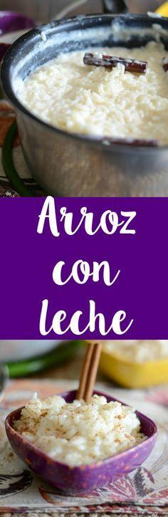 Homemade arroz con leche recipe - I Cook Different Authentic Mexican Recipes, Mexican Food Recipes, Sweet Recipes, Mexican Desserts, Easy Recipes, Hispanic Desserts, Köstliche Desserts, Delicious Desserts, Dessert Recipes