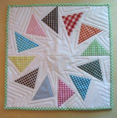 Live a Colorful Life by Mark and Cindy Wiens Baby Cross Stitch Patterns, Quilt Patterns Free, Gingham Quilt, Mug Rugs, Mini Quilts, Quilting Tips, Quilt Making, Quilt Blocks, Diy Crafts