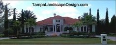 Tampalandscapedesign.com: Lutz property with Tuscan / Mediterranean landscape style that includes iconic cypress trees, pindo palms and junipers. 813.421.1107