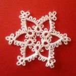 small tatted snowflake patterns for beginners - I'm not a tatter, but in case I ever become one, beginner snowflakes could be handy