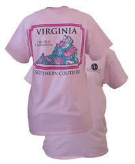 Southern Couture Virginia Preppy Paisley State Pattern Old Dominion St | SimplyCuteTees