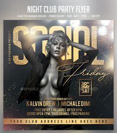 Graphic Design Tips, Graphic Design Posters, Birthday Flyer, Birthday Bash, Birthday Celebration, Club Poster, Music Flyer, Party Flyer, Party Party