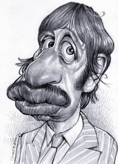 Artist:Jan Op De Beeck   Caricature:Ringo Starr