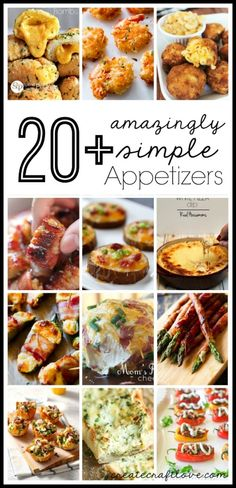 20+ Amazingly Simple Appetizers for your next party!  via createcraftlove.com