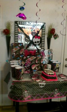 Monster High birthday Party.