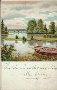 Kunstnerkort Elieson. Pram v/bredden. J.F.