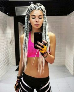 Best Images Box braids white girl Ideas Sure, at one time not too long ago, any time a specialized African-American female do not possess vi White Girl Braids, Girls Braids, Black Girl Braided Hairstyles, Box Braids Hairstyles, Afro Braids, African Braids, Box Braid Hair, Colored Braids, Braids With Extensions