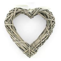Hobbycraft Wicker Heart Wreath 25 x 25 cm