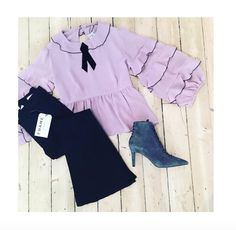 RUFFLES AND FLARES 👍🏼💗 @forloveandlemons Souffle Top Lavender, @frame Le Crop Bell Vian and @kendallandkylie Liza Lace Up Suede Ankle Boots - All available online and instore now!! #forloveandlemons #fashion #ruffles #lavender #frame #framedenim #flarejeans #outfit #musthave #kendallandkylie #ankleboots #style #winter #suedeboots #shopping #boutique #christmas #love