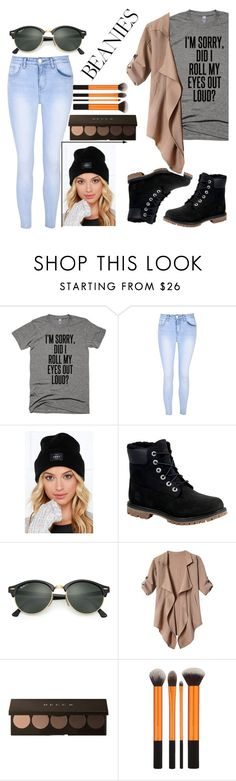 """Casual"" by jokhaiyyah on Polyvore featuring Glamorous, OBEY Clothing, Timberland and Ray-Ban"