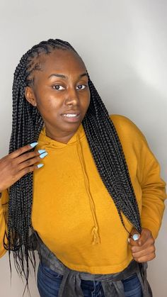 Box Braids Hairstyles For Black Women, Braids Hairstyles Pictures, Try On Hairstyles, Black Girl Braids, African Braids Hairstyles, Braids For Black Hair, Girls Braids, Faux Braids, Poetic Justice Braids