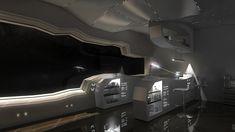 New Science Design Interior Concept Art Ideas Spaceship Interior, Futuristic Interior, Futuristic City, Futuristic Design, Futuristic Vehicles, Futuristic Furniture, Science Fiction, Interior Concept, Interior Design
