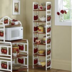 Beautiful 6 Tier Apple Shelf U0026 Apple Microwave Cart