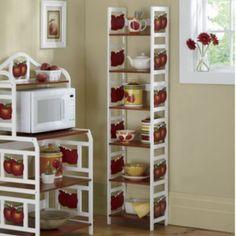 6 Tier Apple Shelf U0026 Apple Microwave Cart
